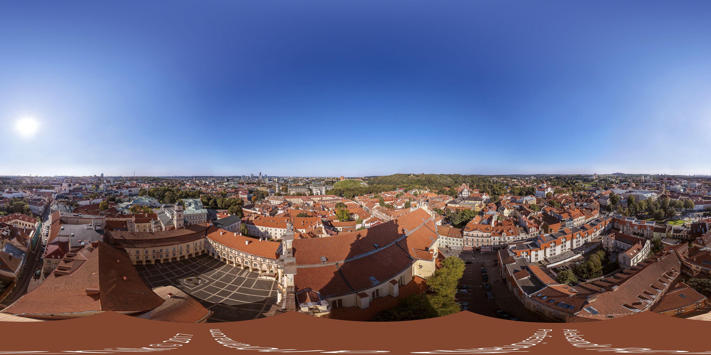 Vilnius gigapixel 360 panorama