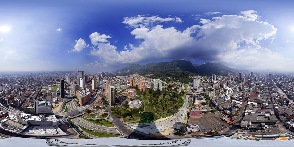 Bogota 360 view from Torre Colpatria